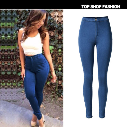 Hot Sale Fashion Pen High Waist Slim Stretch Sweets Plus Size Skinny Pants [6365924868]