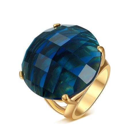 Stylish New Arrival Jewelry Shiny Gift Geometric Environmental Gemstone Ring [4918342212]