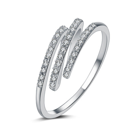 Jewelry Shiny New Arrival Gift Simple Design Stylish Environmental Diamonds Ring [4918316932]