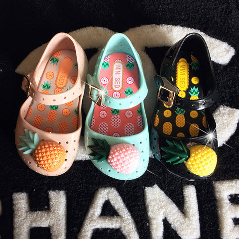 Fruits Pineapple Summer Children Shoes [9012880004]