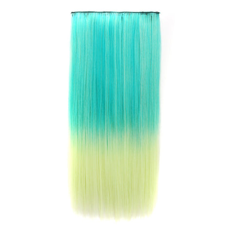 On Sale Sexy Beauty Hot Deal Hot Sale Anime Color Wig Green Gradient Vanilla Straight Hair Hair Extensions [4915533956]