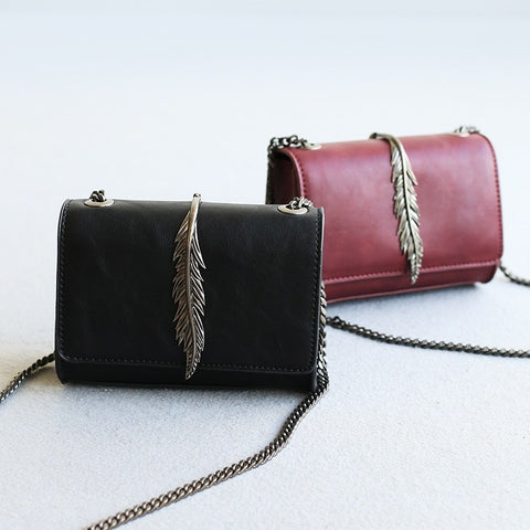 Chain Stylish Vintage Metal Decoration One Shoulder Korean Bags [4915824964]