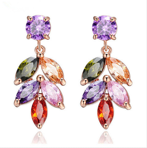Crystal Stylish Jewelry Women's Earrings [11597566735]