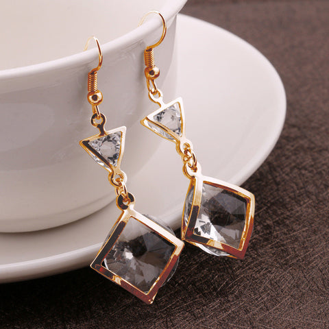 Fashion Stylish Crystal Earring Accessory Earrings [4915583492]