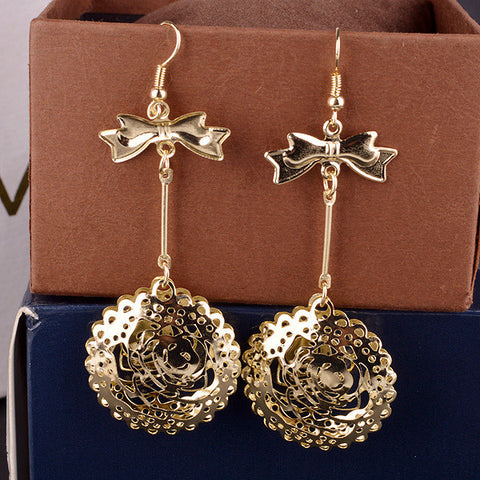Christmas Gifts Hollow Out Butterfly Ladies Hot Sale Earrings [4915617796]