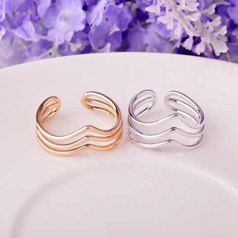 Stylish New Arrival Gift Shiny Jewelry Simple Design Strong Character Couple Environmental Ring [4915703044]