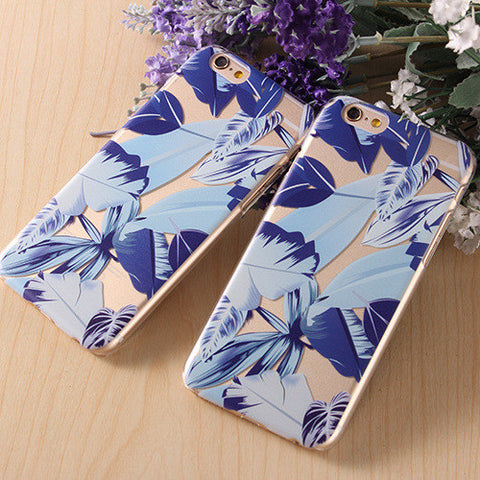 On Sale Cute Iphone 6/6s Stylish Hot Deal Hot Sale Leaf Transparent Apple Iphone Phone Case [4915484484]