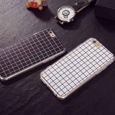 On Sale Hot Sale Cute Stylish Hot Deal Iphone 6/6s Simple Design Couple Plaid Iphone Apple Phone Case [4915483524]