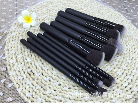 Hot Sale Professional Makeup Brush Sets Make-up Tools 10-pcs Black Brush [4918365316]