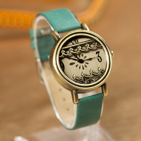 Designer's Good Price Great Deal New Arrival Stylish Awesome Gift Trendy Hot Sale Korean Ladies Vintage Pastoral Style Fine Strap Leather Quartz Watch [4933059268]
