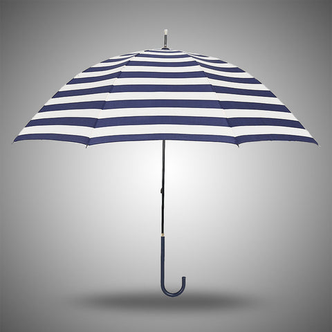 Design Stylish Strong Character Navy Stripes Uv Proof Creative Korean Straight Rod Umbrella [4918248836]