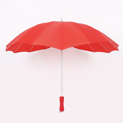 Strong Character Design Stylish Creative Lace Straight Rod Heart Christmas Umbrella [4918249476]