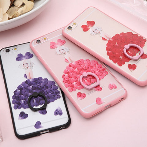On Sale Hot Deal Stylish Hot Sale Iphone 6/6s Cute Ring Rack Apple Silicone Cartoons Phone Case [4915505092]