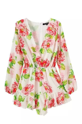 Women's Floral Rompers [6259228356]