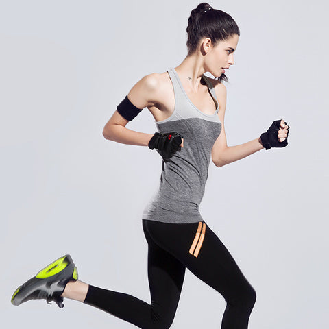 Casual Vest Round-neck Sleeveless Tops Quick Dry Yoga Gym Bottoming Shirt [4915731780]