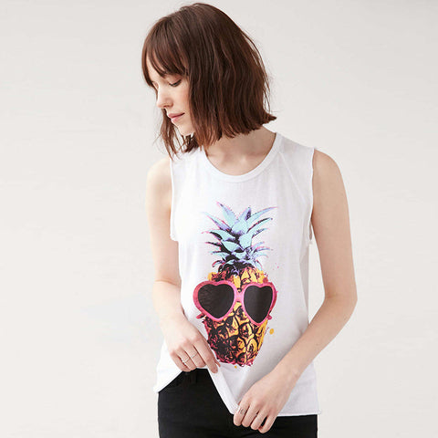 Pineapple Pattern Summer Fashion Style Lovely Women T - shirt = 4697432132