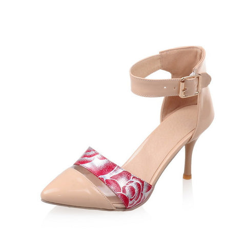 Stylish Design Summer High Heel Print Sandals [4914878532]