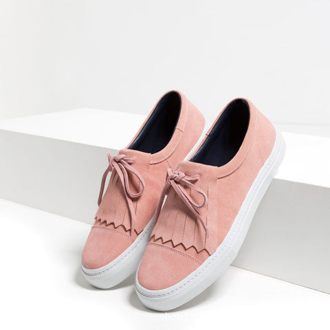 Hot Sale On Sale Casual Hot Deal Comfort Stylish Shoes Summer Tassels Decoration Leather Rubber Flat Sneakers [4918261444]