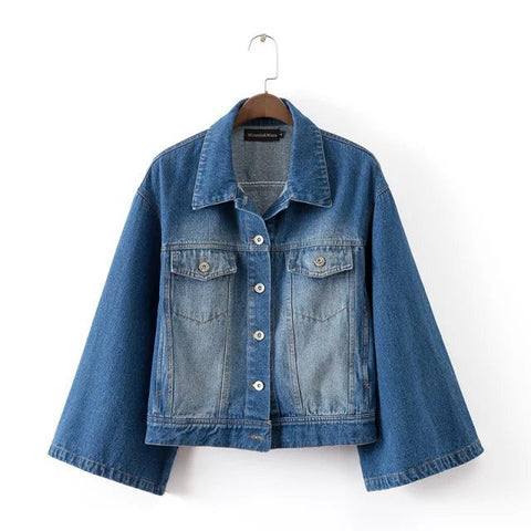 Stylish Loudspeaker Blue Denim Jacket [5012998980]