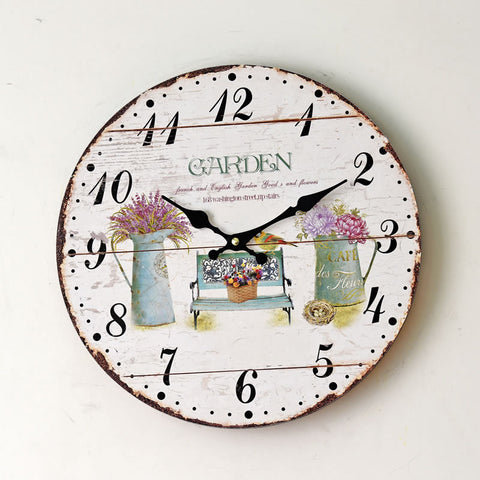 Home Wall Sticker Living Room Quiet Clock [4914941124]
