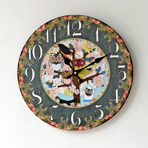 Pastoral Style Wall Sticker Quiet Clock [4914941764]