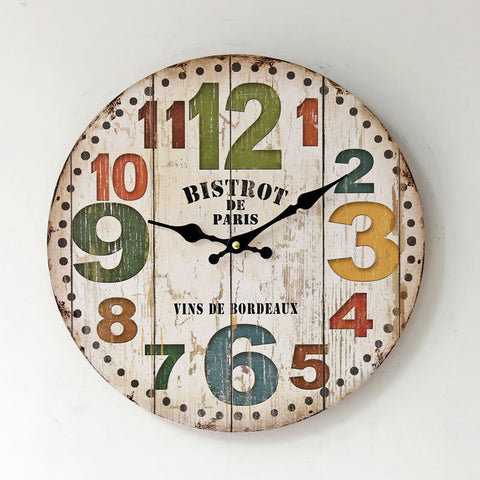 Hot Sale Wall Sticker Living Room Decoration Quiet Clock [4914941636]