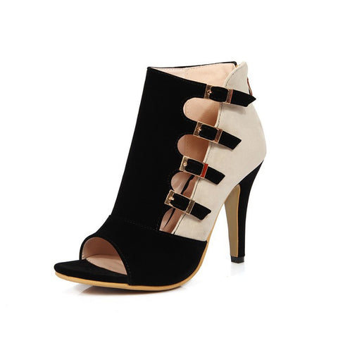 Summer Design Stylish High Heel Peep Toe Shoes Sandals [4914877700]