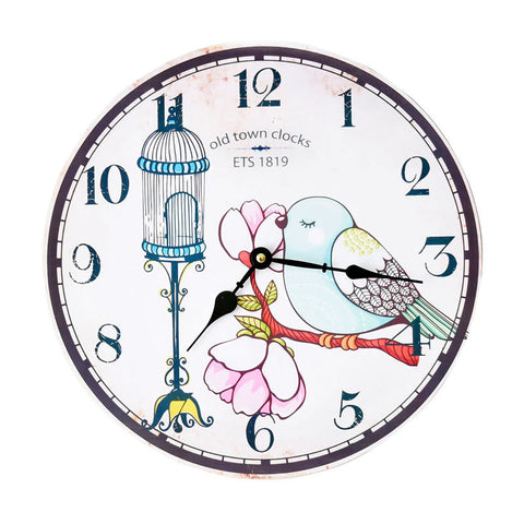 Pastoral Style Home Decor Decoration Quiet Clock [4914941700]