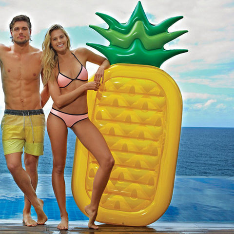 New-style Water Toy Giant Yellow Pineapple Inflatable Slice Floating Bed/Raft Air MattressSummer Holiday [9012879940]