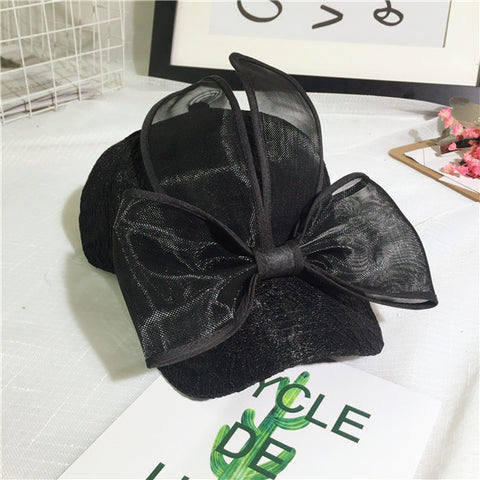 Korean Cap Stylish Lovely Lace Butterfly Hats Baseball Cap [9184223492]