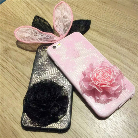 On Sale Hot Deal Stylish Iphone 6/6s Cute Butterfly Strong Character Matte Lace Phone Case [9184223684]