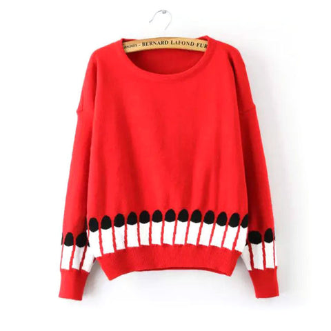 Knit Pen Winter Round-neck Long Sleeve Pullover Bottoming Shirt [9609414031]