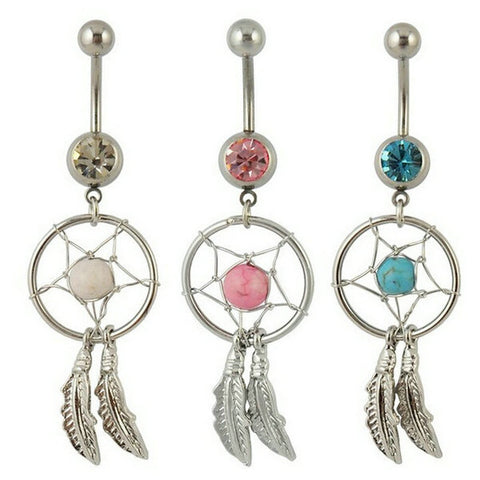 Accessory Feather Belly Ring [9022291396]