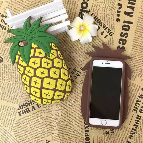 Iphone 6/6s Stylish On Sale Cute Hot Deal Strong Character Pineapple Innovative Silicone Phone Case [9012881412]
