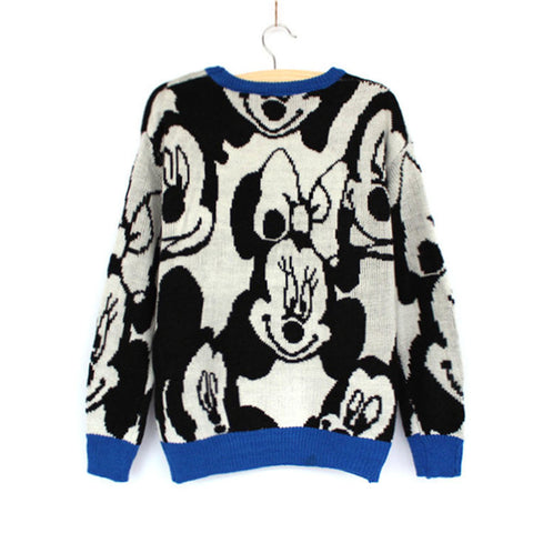 Cartoons Pullover Hot Sale Christmas Mouse Winter Round-neck Sweater [9609414223]