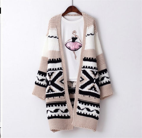Autumn Knit Tops Women's Fashion Korean Thicken Jacket [9609408527]