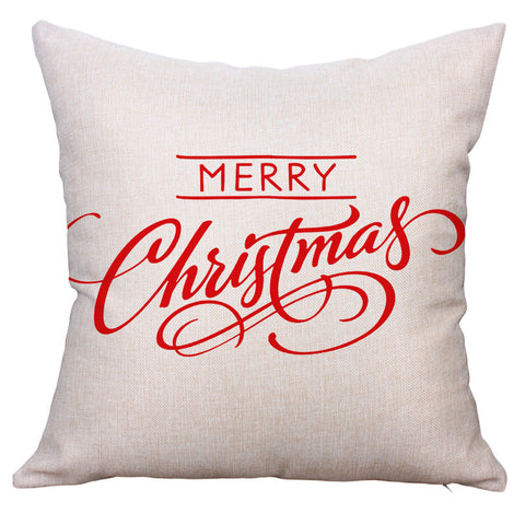 New Year Comfortable Bedroom Cushion Cotton Linen Christmas Gifts Pillow Case [9647044367]