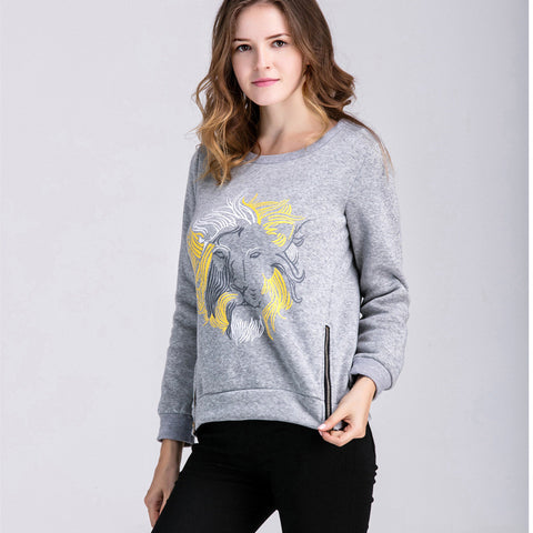 Hoodies Tops Hot Sale Autumn Women's Fashion Long Sleeve Animal Print T-shirts [9307407812]