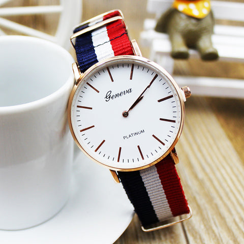 Good Price Awesome Designer's Great Deal Trendy New Arrival Gift Ladies Korean Simple Design Stylish Canvas Nylon Watch [11425539599]