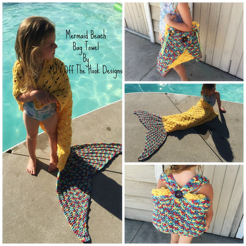 Christmas Gift Wool Knitted Handmade Foldable Backpack Children Beach Sleeping Mermaid Tail Blanket [9582253967]