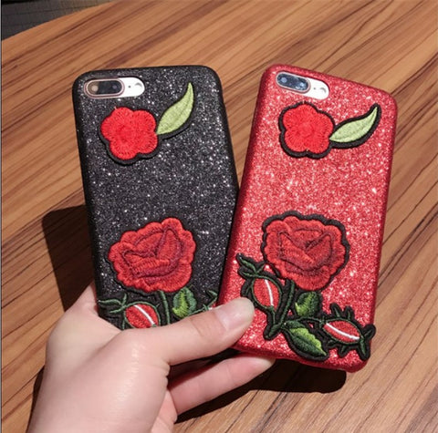 Iphone 6/6s iPhone7/7plus Embroidery Apple Soft Phone Case [11727403983]