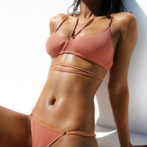 Hot Summer Beach Swimsuit New Arrival Swimwear Sexy Pink Bikini [10853593935]