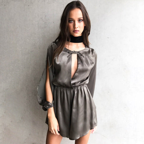 Luxury Women's Fashion Split Summer Hollow Out One Piece Dress [11604662415]