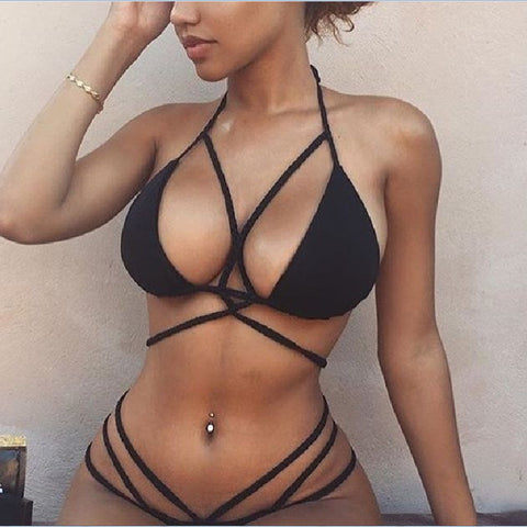 Hot Beach Summer Swimsuit New Arrival Swimwear Stylish Sexy Spaghetti Strap Set Hot Sale Bikini [11604650255]