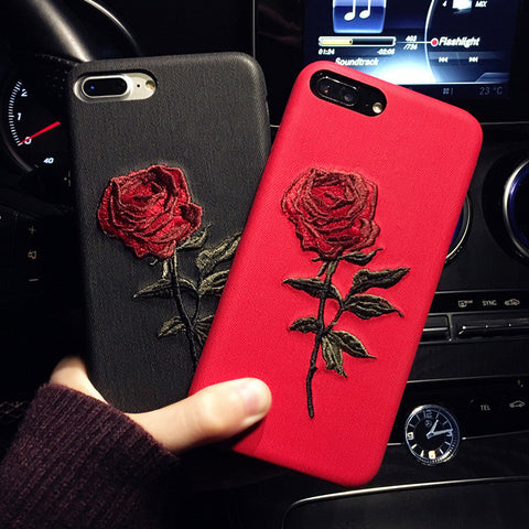 Iphone 6/6P Iphone 7/7P Cute Hot Deal Embroidery Iphone Apple Phone Case [11727403343]