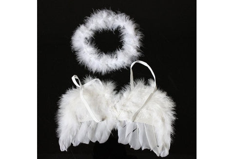 Infant Newborn Photo Prop Baby Kids Angel Fairy Feather Wing Costume for Children's Christmas gift [9325376516]