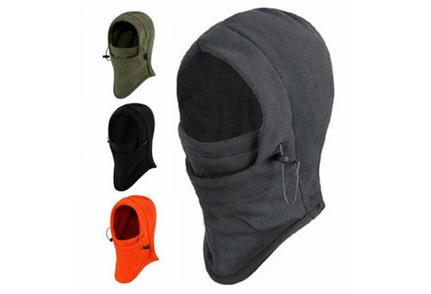 6 in 1 Thermal Fleece Balaclava Hood Swat Ski Mask Bike Skullies & Beanies Winter Wind Stopper Face Hats [9326005956]
