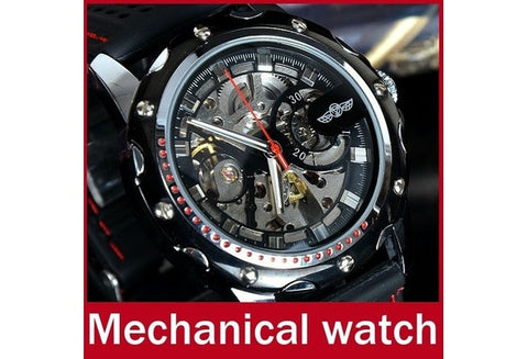 Fashion Brand Winner Silicone Band Men Automatic Mechanical Watch Self Wind Skeleton Watch For Men Sport Wristwatch [9325378884]