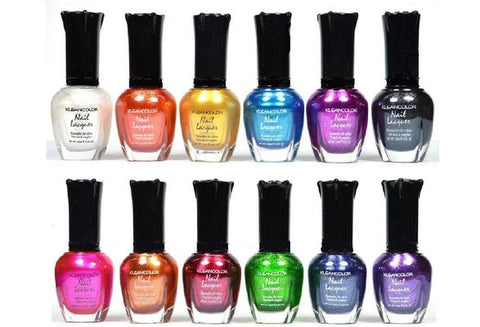 Kleancolor Nail Polish - Awesome Metallic Full Size Lacquer Lot of 12-pc Set [9325747652]