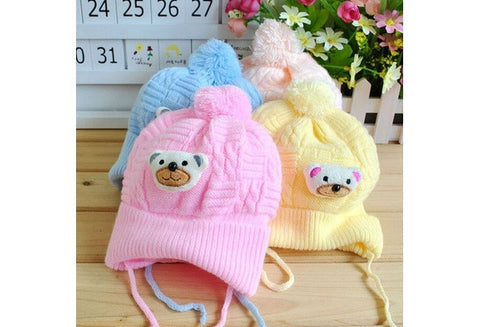 Baby Boy Girl Infant Toddler Cute Soft Crochet Bear Hat Beanie Warm Newborn Cap [9325367876]